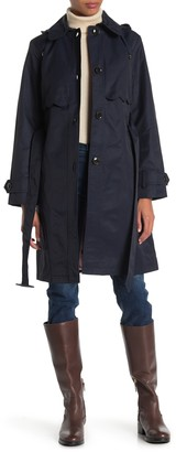 Kate Spade Hooded Belted Rain Trench Coat