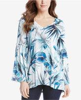 Karen Kane Printed Bell-Sleeve Top