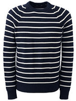 Classic Men's Fit Breton Stripe Cotton Drifter Crewneck Sweater Navy Dots