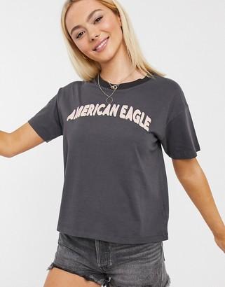 American Eagle logo tee in black