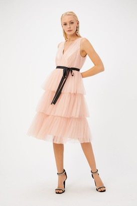 Coast Tulle Midi Dress