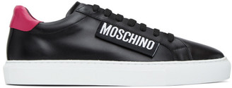 Moschino Black and Pink Label Sneakers
