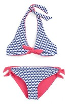 Vineyard Vines Girl's Whaletail Reversible Two-Piece Swimsuit