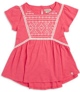 Lucky Brand Girls 7-16 Embroidered Geometric Top
