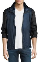 Burberry Lightweight Bicolor Wind-Resistant Jacket, Bright Steel Blue