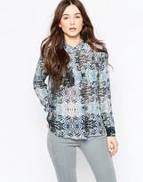 Vila Abstract kaleidoscope Print Shirt