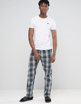 Esprit Lounge Pants in Woven Check in Regular Fit