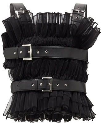 Noir Kei Ninomiya Organza Buckled Harness Top - Womens - Black