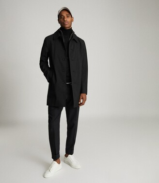 Reiss Perrin - Mac With Removable Zip Neck Insert in Black