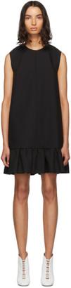 MSGM Black Double Layer Cady Crepe Dress