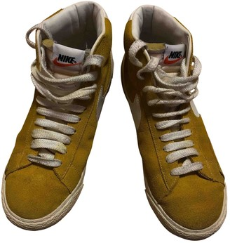 Nike Blazer Yellow Suede Trainers