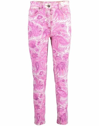 Etro Paisley Print Skinny Jean