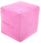 Found Object Square Pouf