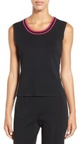 Ming Wang Women's Tipped Scoop Neck Tank