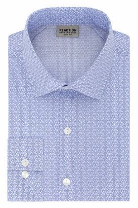 Kenneth Cole Reaction Men's Dress Shirt Slim Fit Technicole Stretch Print