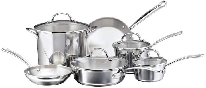 Farberware Millennium 10-pc. Stainless Steel Cookware Set