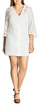 City Chic Mixed Lace Dress