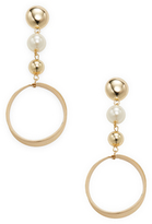 Graduated Sphere Statement Earrings