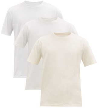 Maison Margiela Pack Of Three Stereotype Cotton T-shirts - Mens - White