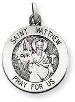 1928 Gold and Watches Sterling Silver Antiqued Saint Matthew Medal