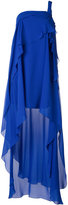 Alberta Ferretti asymmetric layer dress - women - Silk/Acetate/other fibers - 40