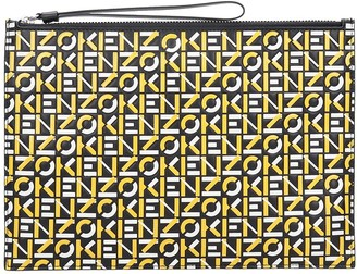 Kenzo Clutch In Blue Leather