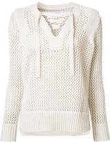 Derek Lam 10 Crosby openwork sweater - women - Cotton - XS