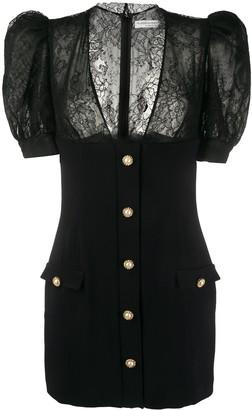 Alessandra Rich Lace Detail Dress