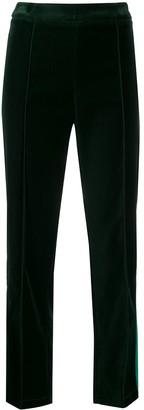 Hebe Studio Cropped Velvet Trousers