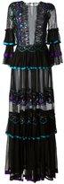 Alberta Ferretti embroidered panel dress - women - Silk/Polyester - 40