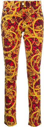 Versace Jeans Couture Baroque-Print Jeans