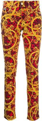 Versace Baroque-Print Jeans