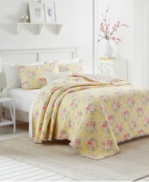 Laura Ashley Melany Ruffled Twin Quilt Bedding