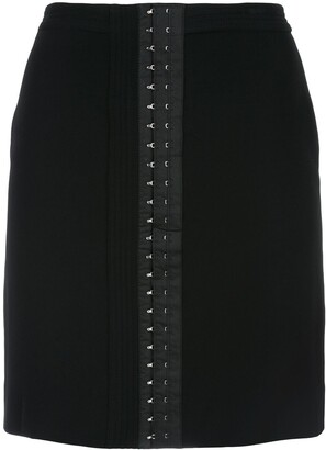 Thierry Mugler Jupe mini eyelet skirt