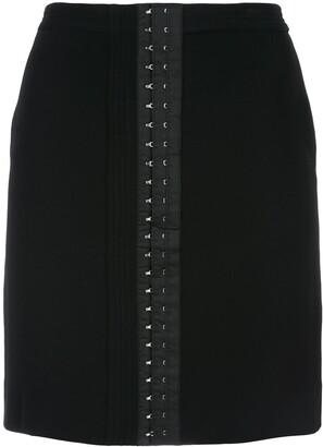 Thierry Mugler Jupe mini eyelet skirt