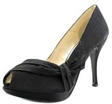 Caparros Odessa Women Open Toe Canvas Black Platform Sandal.
