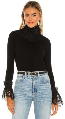 RAISSA Lace Ruffle Sweater