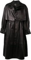 Bottega Veneta single-breasted leather trench coat