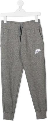 Nike Kids Logo Embroidered Track Pants