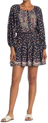 Angie Long Sleeve Printed Dress