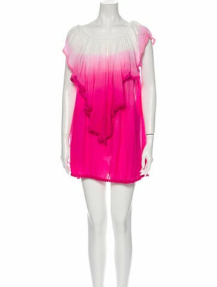 CHIO Bateau Neckline Mini Dress w/ Tags Pink