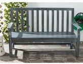 Safavieh Outdoor Living Indaka Ash Grey Acacia Wood Bench