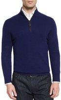 Neiman Marcus Nano-Cashmere 1/4-Zip Pullover