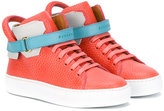 Buscemi Kids - straped hi-top sneakers - kids - Leather/rubber - 25