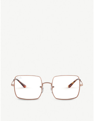 Ray-Ban RX1971V metal and acetate square-frame glasses