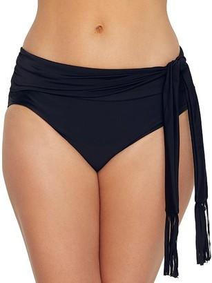 CoCo Reef Cascade Fringe High-Waist Bikini Bottom