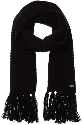 UGG Chunky Knit Wool-Blend Scarf With Fringe
