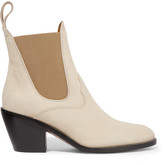 Chloé Suede Ankle Boots - Beige