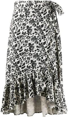 Polo Ralph Lauren Floral Linen Wrap Skirt
