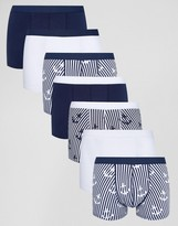 Asos Trunks With Anchor Print 7 Pack SAVE